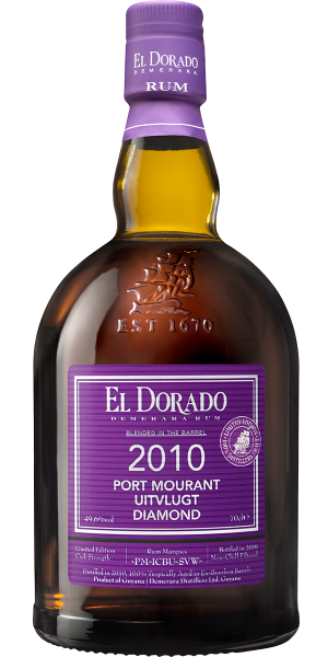 RUM EL DORADO PURPLE PORT MOURANT - UITVLUGT - DIAMOND 2010 | AC