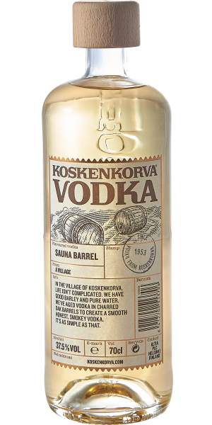 VODKA KOSKENKORVA SAUNA BARREL