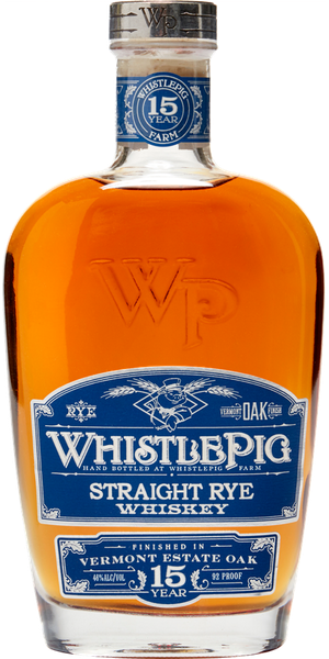 WHISKEY WHISTLEPIG STRAIGHT RYE VERMONT ESTATE OAK 15Y