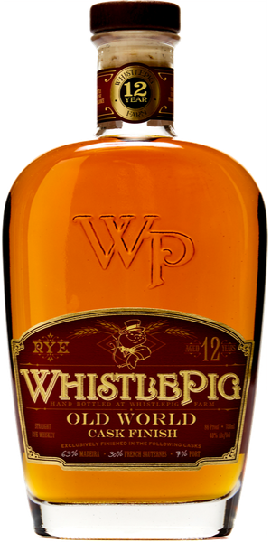 WHISKEY WHISTLEPIG STRAIGHT RYE OLD WORLD CASK FINISH 12Y