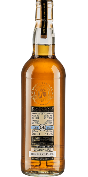 WHISKY DUNCAN TAYLOR DIMENSIONS HIGHLAND PARK AMERICAN OAK 14 YO 2004 SINGLE MALT | AC