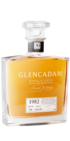 WHISKY GLENCADAM SINGLE BOURBON CASK 1982 N° 737 DECANTER SINGLE MALT | ALD
