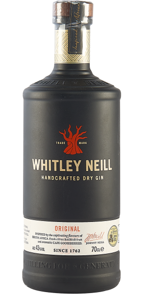 GIN WHITLEY NEILL HANDCRAFTED GIN DRY GIN | NB