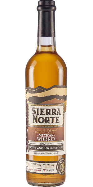 WHISKEY SIERRA NORTE 85% MAIZ NEGRO